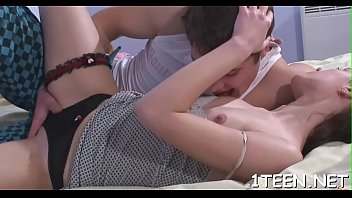 petite pickup teen Dirty slut gets his hard dick in her mouth to suck on