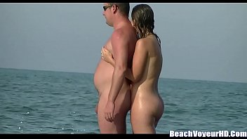 milfs topless beach Mom changing for monye