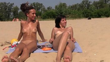 beach naked walk Brunette teen girl with small tits fucked
