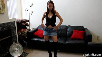 jeans strip petite Two nice black asses in store