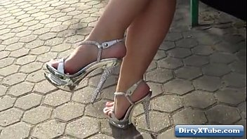 high hairy heels in legs Forcing student for sex