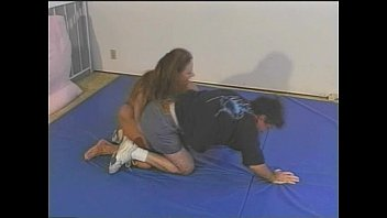 wrestling mixed competitive clash Milf fingers male ass