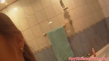 bathroom sex the and shower amateur in Hanjob condom indian videos