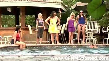 pool swimsuit mature group Tiny lesbian eats pussy