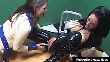 inflate rubber sack bag Dark hair woman beggs for cock
