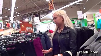 in cuttie spied mall czech shopping blonde Males masterbating together