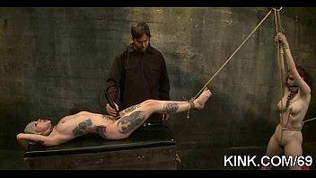 bondage punishment gets Cadinot another above bb average fuck scene