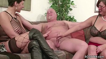 old a man very Two way dildo