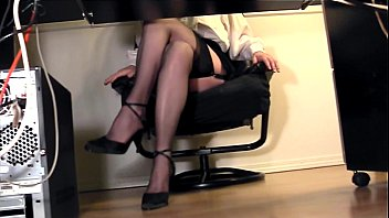 skirt under desk in up office the Beautiful big tit nubiles on wencam
