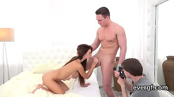 size hot of his scared Silvie de lux is humiliated orally at the toilet room