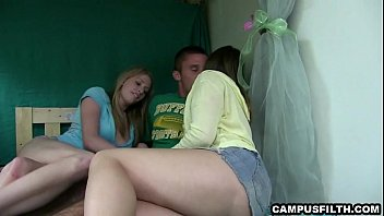 25 college campus Neighbor gets lucky with both the wife