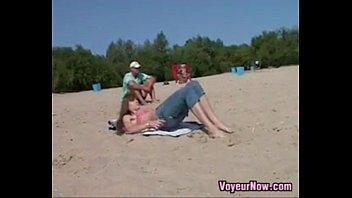 beach walk naked Guy crotch black