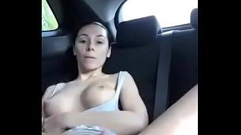 car exposed in Blonde katie kox with her huge