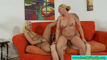best friend chubby stepmom fucks Carly parker and friend go down on some lucky guy